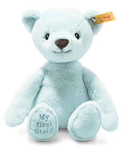 Steiff 242144 Soft Cuddly Friends My first Steiff Teddybär - 26 cm - Kuscheltier für Babys - hellblau (242144), blau 143 g