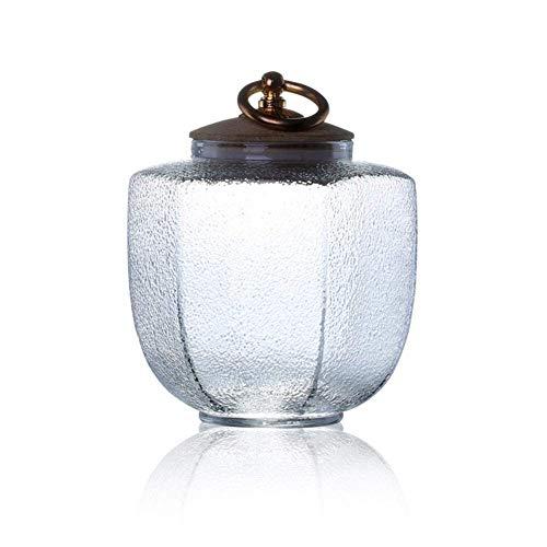 FABSELLER glas verzegeld opslagtank transparant met deksels glas opslag pot voor kruiden dranken noten gekonfijt fruit, 400ML