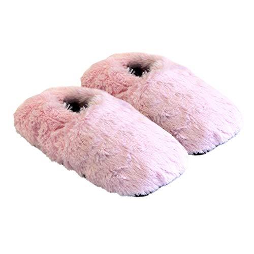 Thermo Sox aufheizbare Hausschuhe für Mikrowelle und Ofen - Mikrowellenhausschuhe Wärmepantoffeln Wärmehausschuhe Wärmeschuhe Fußwärmer Supersoft, Pink, 36/40 EU