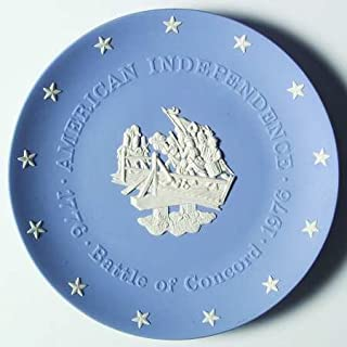 "Wedgwood Blue Jasper American Bicentennial Commemorative Plate ""The Battle of Concord"""