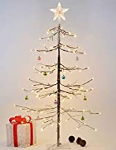 LIGHTSHARE 4Feet 112L LED Fir Snow Tree,Home Festival Party Christmas, Indoor and Outdoor Use, Warm White