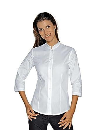 Isacco – Camisa elástica cuello mao manga 3/4 blanca blanco ...