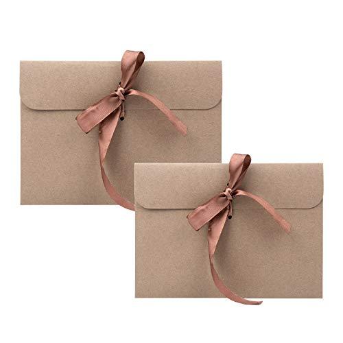 Remebe 30 Piezas Vintage Kraft 30 Piezas Cinta Sobres, Ideal para Sobres de Acción de Gracias, Invitaciones, Tarjetas de Felicitación y Tarjetas de Navidad(6,77x4,92 pulgadas) (Marrón)
