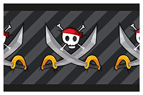 dekodino Kinderzimmer Bordüre Borte Piraten Totenkopf selbstklebend