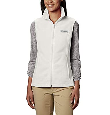 Columbia Women's Plus Size Benton Springs Soft Fleece Vest, Sea Salt, 1X