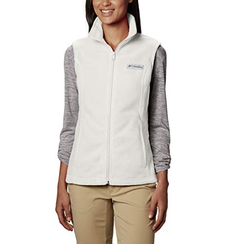 Columbia Women's Plus Size Benton Springs Soft Fleece Vest, Sea Salt, 2X