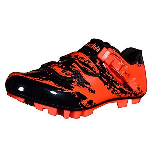 GUARDUU Zapatillas De Ciclismo Carretera para Hombre Zapatillas De Bicicleta MBT De Antideslizantes Resistentes Al Desgaste Fibra De Carbono Transpirables con Sistema De Bloqueo Rápido,C,42(US:9)