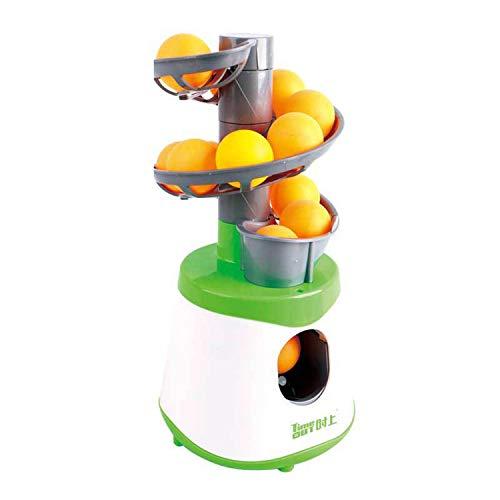 MYRCLMY Mini Mesa Tenis Robot Servicio Lanzador Máquina Transporte para Niños Adulto Deporte Juego Regalo Raqueta Deporte 40+ Ping Pong Ball Niños Tenis Contacto Juguete,Verde