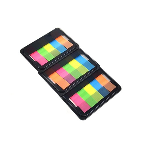KLOUD City Pack of 3 Assorted Colors Sticky Note Page Flags Markers (5 Colors Set)