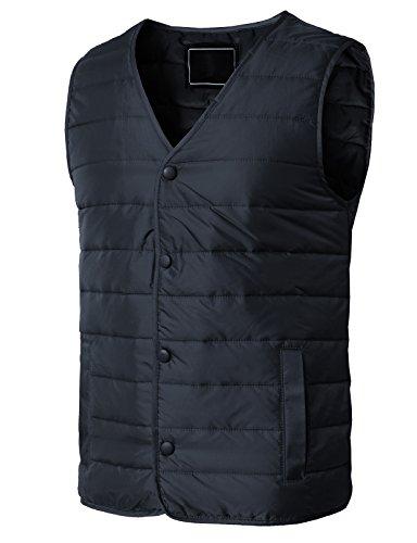 H2H Men's Warmer Puffer Vest Lightweight Packable Sleeveless Jacket Vest Navy US XL/Asia 3XL (KMOV0163)