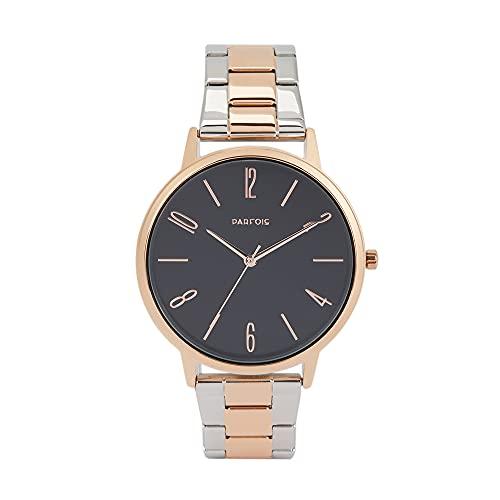 Parfois - Reloj Pulsera De Acero Bicolor - Mujer - Talla Única - Multicor Metálica