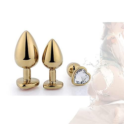 3pcs Coeur Diamant Cristal Bijou Design métal étanche en Aci