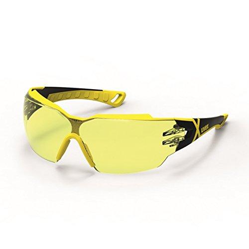Uvex Pheos CX 2 - Gafas de Seguridad Amarillos - Protección Laboral - Antiarañazos y Antivaho (anti-UV)
