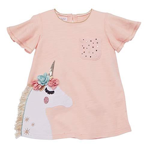Mud Pie Baby Girls' Flower Unicorn Tunics S Casual Dress, Pink, SM (12-18...