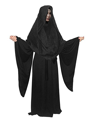 The Dragons Den Disfraz de bruja negra de lujo para mujer, talla L/XL