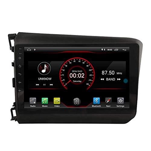 Android 10 Navi 2 + 16GB Reproductor de DVD para automóvil GPS Unidad principal estéreo Navi Radio Multimedia WiFi para Honda Civic 2012 Soporte Control del volante incorporado CarPlay con cable
