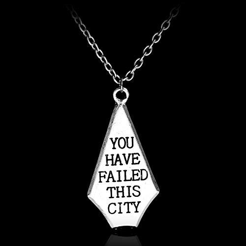 YUNMENG Collar con Colgante de aleación de Ciudad Collar de Cadena de Joker Simple Regalo para fanáticos