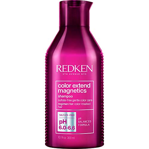 Redken Color Extend Magnetics Shampoo | For Color-Treated Hair | Gently Cleanses & Protects Color | With Amino Acid | Sulfate-Free | 10.1 Fl Oz, 10.1 fl. oz