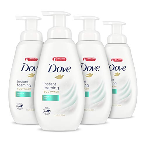 Dove Instant Foaming Body Wash for Softer and Smoother Skin Sensitive Skin...