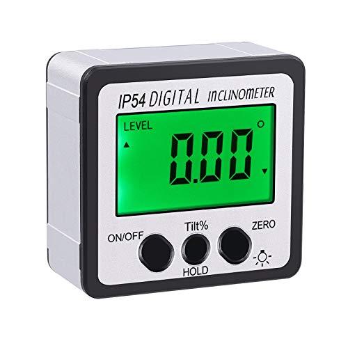 Digitaler LCD Winkelmesser Neigungsmesser Digitaler Winkelsucher mit Batterie Schraubendreher LCD Winkelmessgerät