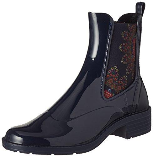 Desigual Shoes_Mid Rain Boot Essentials, Stivali Chelsea Donna, Blu (Estado), 38 EU