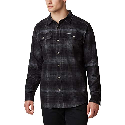 Columbia Flare Gun™ Corduroy Shirt Camisa De Pana, Hombre, City Grey Ombre Tartan, M