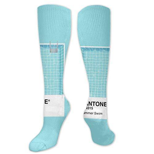 Lange Socken Pantone Serie Sommer Schwimmen 50 cm lang kniehohe Outdoor-Stiefelsocken, Wandern, Trekking, Multi-Leistung für Damen und Herren