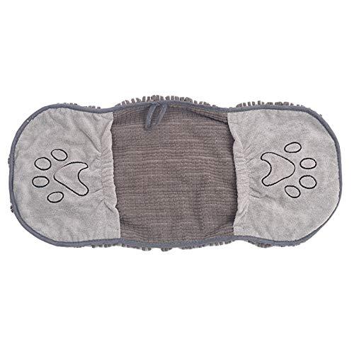 Soapow Großes Hundehandtuch, schnell trocknend, Handtuch mit Handtaschen, für Hunde aller Rassen, ultra-saugfähiges Chenillegewebe, maschinenwaschbar, langlebig, schnelltrocknend, 35...