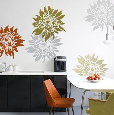 Great Super popular specialty store interest Flower Stencil Chrysanthemum Grande LG - for Large Stencils Wall