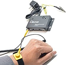 Calunce Anti static Wrist Strap Online Monitor Workstation Monitor with Singel Wire ESD Wrist Straps