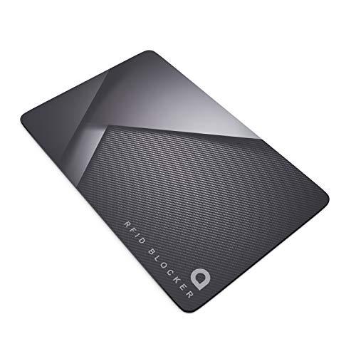 Aplic - Tarjeta bloqueadora - Apantallamiento RFID NFC - Protección Billetera - Compacta y Estable - Grosor 1mm – Alternativa a Fundas Protectoras – Señal de interferencia electrónica contra lectores