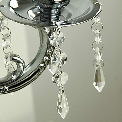 5 arm crystal candelabra _image4