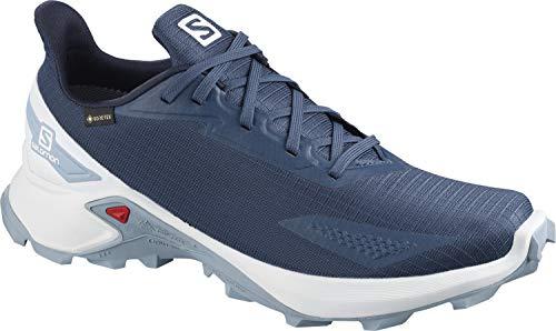 Salomon Alphacross Blast GTX, Zapatillas De Trail Running Impermeables Hombre, Color: Azul (Dark Denim/White/Ashley Blue), 40 EU