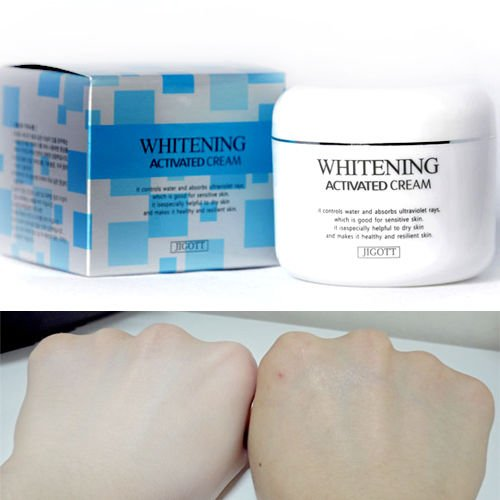 Jigott blanchiment activé crème éclaircissante 100g rides hydratant/