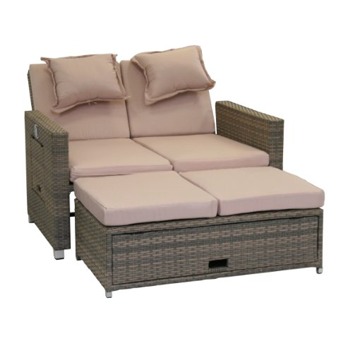 greemotion Rattan-Lounge Bahia Twin, Sofa & Bett aus...