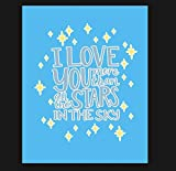 Vintage I Love You More Than The Stars Metal Sign, Pin Up Sign, Vintage Sign Love SignAluminum Plaqu...
