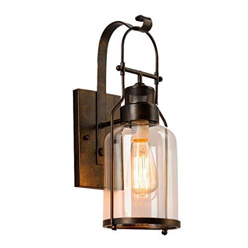 LONGWDS Lámpara de Pared luz de la Pared: (Retro en Color) LED de la lámpara de Pared Wall Industrial Vintage Retro Apliques de Pared de luz Loft