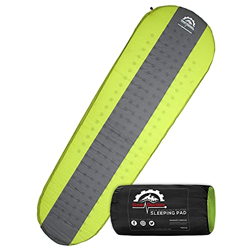 Gear Doctors Self Inflating Sleeping Pad - 4.3 R Four Season Camping pad-1.5 Inch Thick Air Foam...