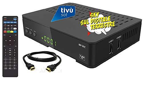 Decoder combo doppio tuner Satellitare HD e Digitale Terrestre HD compatibile con tessera Tivusat è con tessere Viaccess con Tessera Mediaset Premium e tessera Sky Digitale Terrestre