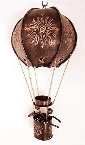Ballon à Air Chaud Forme Bougie Chauffe Plat Support, L - 43 cm Haute, Finition Or