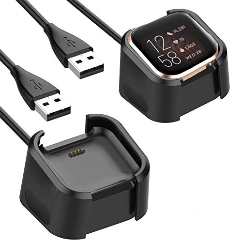 Mostof 2-Pack Compatible with Fitbit Versa 2 Charger, Accessories Charging Dock with Cable Replacement for ONLY Fitbit Versa 2