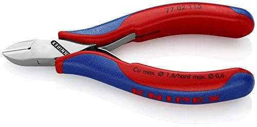 KNIPEX 79 32 125 Pince coupante de c/ôt/é pour l/' /électronique de pr/écision brunie avec gaines bi-mati/ère 125 mm