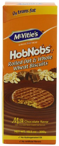 McVities Milk Chocolate Hob Nobs, 10.5-Ounce (Pack of 4)