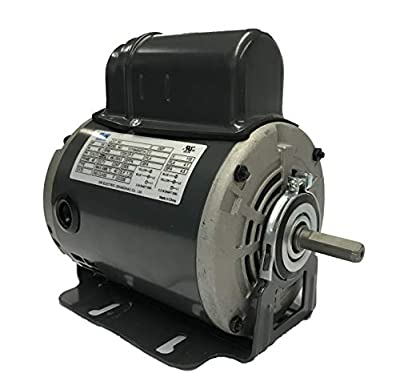 GW 1/4 HP Belt Drive Fan Motor, 115V, 48 Frame, Split Phase Start Capacitor Run Electric Motor, 1725RPM, SF 1.35, SFA 4.5A, ODP Enclosure, Resilient Base, Auto Overload Protector by GW