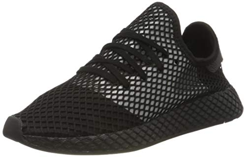 adidas Deerupt Runner, Zapatillas de Gimnasio Hombre, Núcleo Negro/Plata Met./Core Negro, 44 2/3 EU