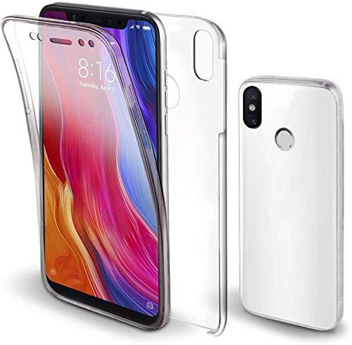 Movilshop Funda 360 [Xiaomi Mi 8 Pro] PC + TPU Carcasa Doble Cara 360 de Silicona Delantera + Trasera Rigido Silicona Reforzada Transparente para Smartphone