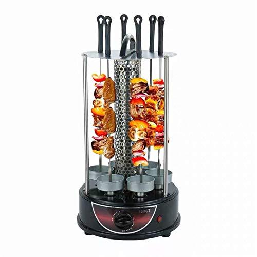 Parrilla eléctrica libre de humo, barbacoa interior BBQ Máquina de parrilla vertical...