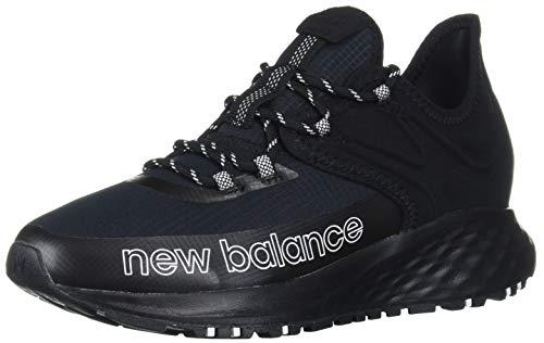 New Balance Women's Fresh Foam Roav Trail V1 Sneaker, Black/White, 7.5 W US