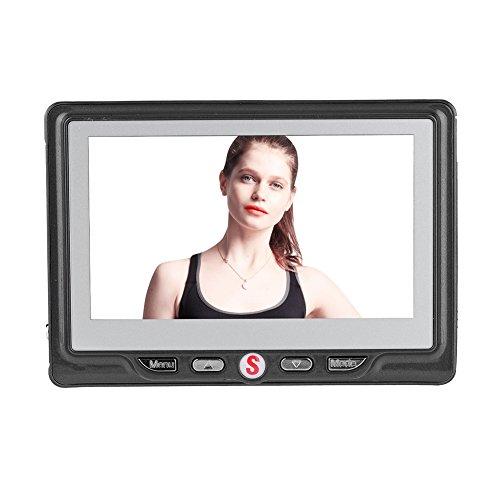 Zerone Digital Door Viewer & Timbre Kit, 4,3Pulgadas LCD Monitor Vivienda Timbre de Puerta Gris Color 120° Gran Angular 24Horas Motion Detection con 1GB Tarjeta Micro SD