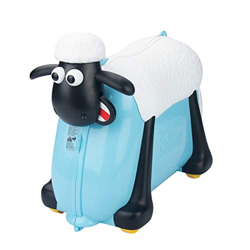 Shaun the Sheep Kids Ride-On Suitcase Carry-On Luggage (Blue)